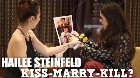 Enrique, James or Daniel? Hailee Steinfeld plays Kiss-Marry-Kill
