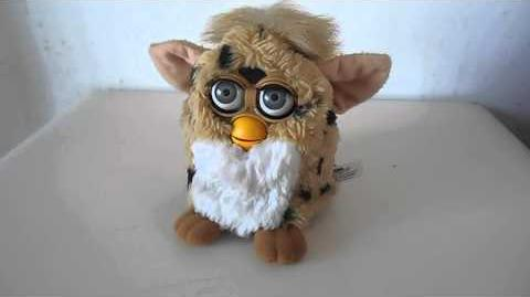 1998 Leopard Print Furby by Tiger Toys