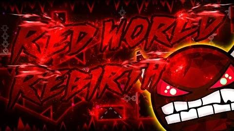 Geometry Dash Red World Rebirth DEMON Published by Riot (On Stream)