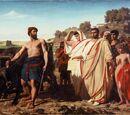 Cincinnatus recevant les envoyés du Sénat romain