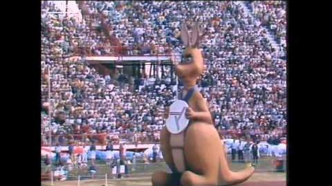 Matilda at the Opening Ceremony of the Brisbane 1982 Commonwealth Games