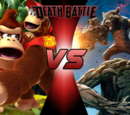 Donkey Kong and Diddy Kong vs Rocket and Groot