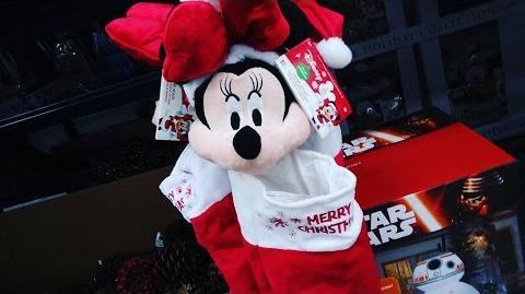 Stocking Animated Wiggle Ears - Minnie Gemmy Christmas 2016