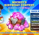 Mickey's Birthday Contest 2016