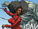 Mercedes Knight (Earth-616) and Aleksei Sytsevich (Earth-616) from Daughters of the Dragon Vol 1 1 0001.jpg