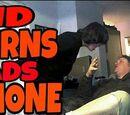 KID BURNS DADS PHONE OVER CHRISTMAS COOKIES!!!