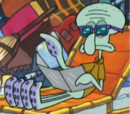Squidward Wearing Sunglasses and Holding a Tanning Mirror.png