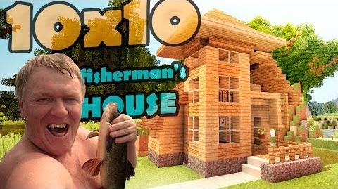 Minecraft 10x10 house - дом рыбака.