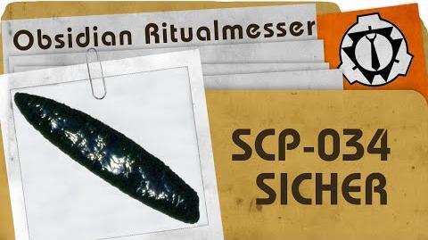 SCP-034 Obsidian Ritualmesser