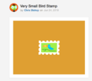 Very Small Bird Stamp