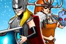 Jane Foster (Earth-TRN562) and Aldrif Odinsdottir (Earth-TRN562) from Marvel Avengers Academy 001.png