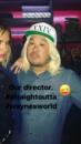 BTS Arielle Kebbel and director.png