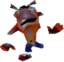 Crash Bandicoot 2 Cortex Strikes Back Crash Bandicoot Crushed.png
