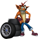 Crash Tag Team Racing Crash Bandicoot with Tires.png