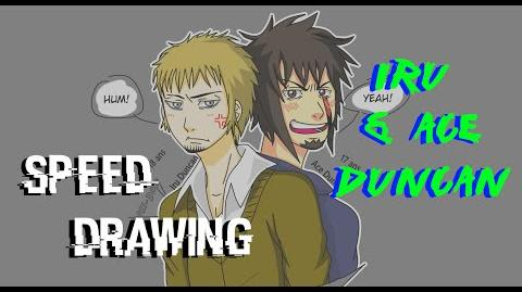 Speed Drawing Dessin d'Iru et d'Ace Duncan HD