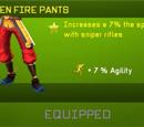 Golden Fire Pants