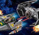 75150 Le TIE Advanced de Dark Vador contre l'A-wing Starfighter