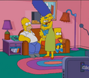 Maggie in the Safe couch gag