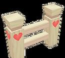 Clôture à coeurs