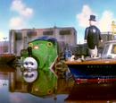 Percy nimmt ein Bad