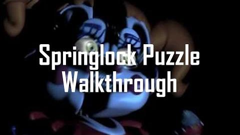 SPOILERS Walkthrough How to Beat the Night 4 Springlock Puzzle FNaF Sister Location (PC) Part 9