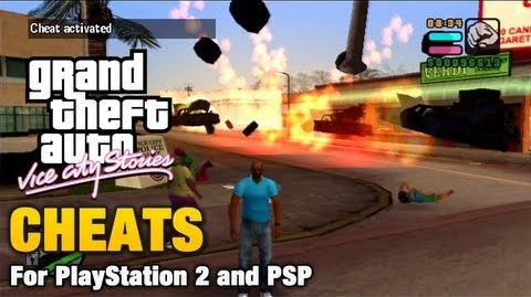 Cheats in GTA Vice City Stories