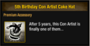 5th Birthday Con Artist Cake Hat.png