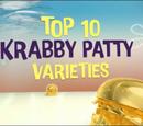 Top 10 Krabby Patty Varieties