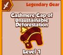 Cashmere Cap of Unsustainable De-Forestation (Legendary)