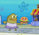Frozen Krabby Patty doll