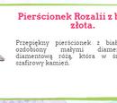 Pierścionek Rozalii