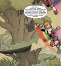 Rattatosk (Earth-5631) and Julie Power (Earth-5631) from Thor and the Warriors Four Vol 1 3.jpg
