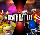 Bowser and Bowser Jr. VS Dr. Eggman and Metal Sonic