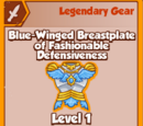 Blue-Winged Breastplate of Fashionable Defensiveness (Legendary)
