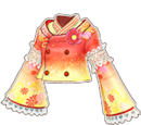 Deep Red Colored Miyabi Coord