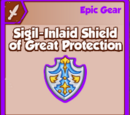 Sigil-Inlaid Shield of Great Protection