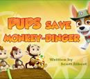 Pups Save Monkey-dinger