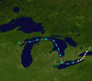 List of Great Lakes Tropical Cyclones Before 2015