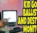 KID GOES BALLISTIC OVER FAULTY MONITOR!!!