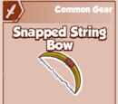 Snapped String Bow