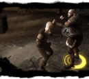 The Witcher fistfighting