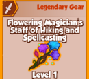 Flowering Magician's Staff of Hiking and Spellcasting (Legendary)