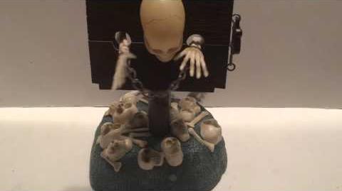 2001 Gemmy Animated Singing and Dancing Skeleton Prisoner ''Shout'' RARE!