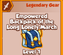 Empowered Backpack of the Long Lonely March (Legendary)