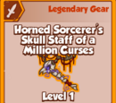 Horned Sorcerer's Skull Staff of a Million Curses (Legendary)