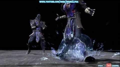 Mortal Kombat 9 Rain X Ray Babality And Both Fatalities HD 720p