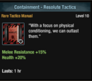 Containment - Resolute Tactics