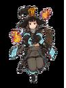Maki con su uniforme de bombero.png