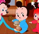 Mickey Mouse & Minnie Mouse Babies Scramble for Food