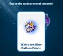 White & Blue Pattern Fabric Token